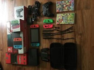 Almost new Nintendo switch with lots of accessories