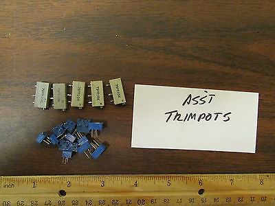 Assorted Modern Trimpots Trim Pots Single Multi-turn