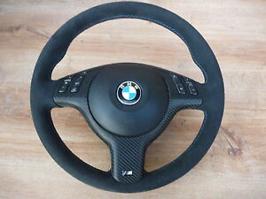 alcantara cuir volant airbag panneau multifonction bmw e39 e46 m3 m5 x5 ebay. Black Bedroom Furniture Sets. Home Design Ideas