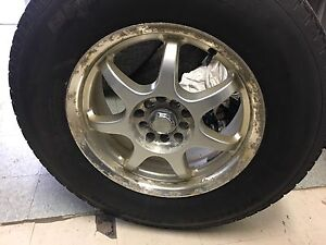235/70 R16, 4 BFGOODRICH winter tires with mags