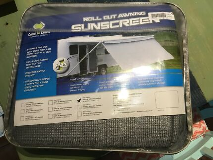 Caravan roll out awning SUNSCREEN