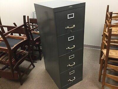 Vintage Cole Steel Industrial 4 Drawer File Cabinet - Excellent