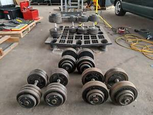 Dumbbells and Metal Weight Plates