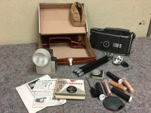 Vintage Polaroid 110A Camera In Case With Accessories