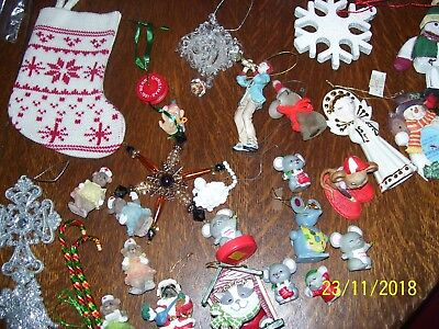 CHRISTMAS / HOLIDAY ITEMS, ORNAMENTS, CHRISTMAS MICE DECORATIONS 37 PIECE