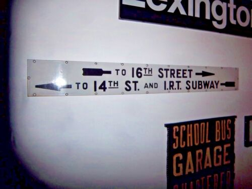 Nyc Subway Sign Historical Irt 14th Street Union Square Porcelain 16th St Ny Art