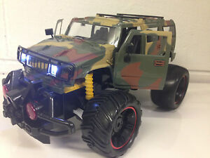 AMERICAN H2 HUMMER MONSTER RC TRUCK REMOTE CONTROL CAR LED REMOTE OPENING DOORS