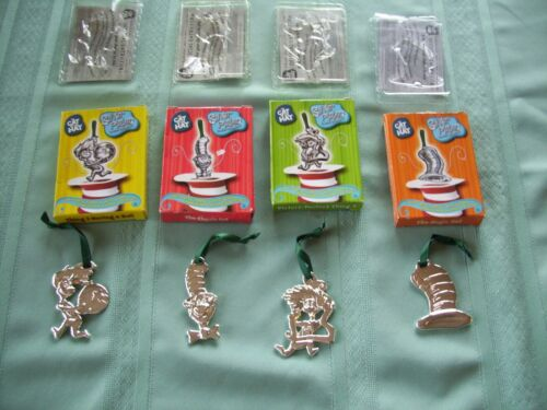 SET OF 4 CAT IN THE HAT ORNAMENTS