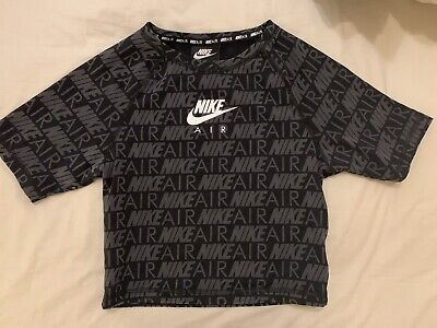 Nike Air Short Sleeve Print Cropped Top XS