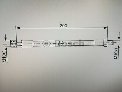 Bremsschlauch Bremsleitung hinten für BMW 3er E21 E30 E36 Neu