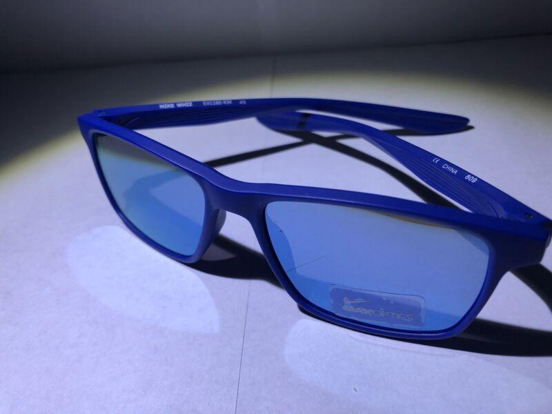 Brand New Boy's Nike Whiz Sunglasses Matte Indigo Force/Clear Jade EV1160-434