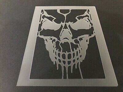 Skull #26 Stencil 10mm or 7mm Thick, Crafts, Skulls, Tattoo, Halloween, - Halloween Skull Stencils
