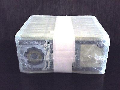 10,000 New Iraqi Dinar  20 X 500 Dinar Notes Unc. Money Iraq Currency