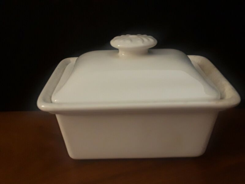 Lord Nelson Pottery Cream Color Made in England Covered Wedge Cheese Butter Dish