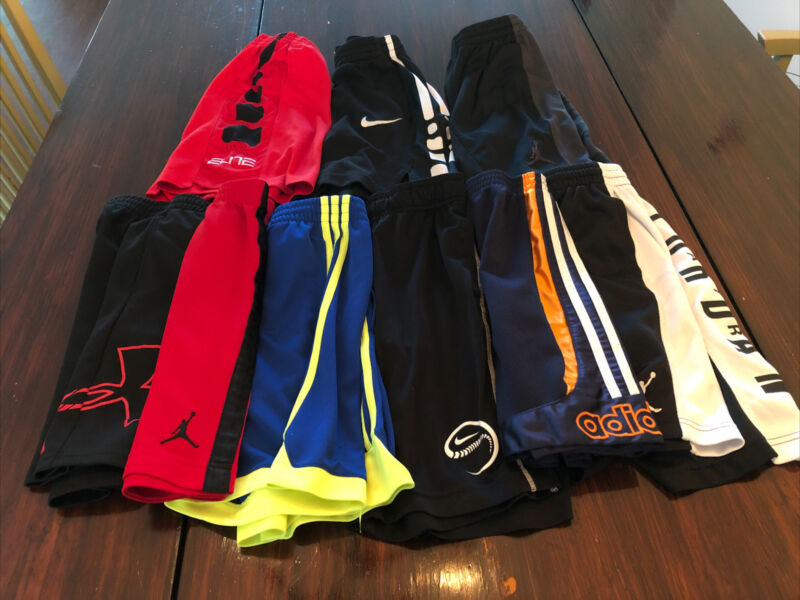 Lot (9) Boys Youth SMALL NIKE Dri Fit Under Armour Adidas Athletic Shorts HUGE