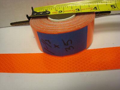 Neon Orange Reflective  Conspicuity Tape 1-12 X 35 Feet