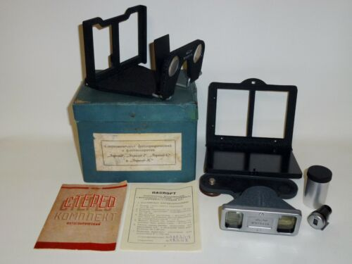 Stereo Attachment Full Set in box+manual for Zorki Fed Leica #579339
