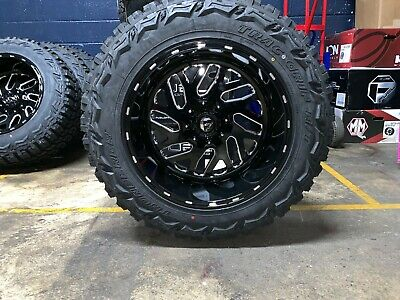 """20x12 Fuel D581 Triton 35"""" MT Wheel and Tire Package 5x5.5 Dodge Ram 1500"""