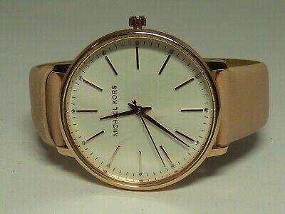 Michael Kors Women's Pyper Norie Stainless Steel Leather Watch MK2741