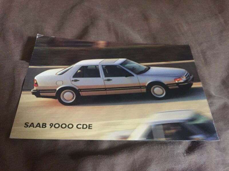 1983 Saab 9000 CDE USA Market Color Brochure Card Prospekt