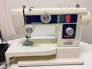 Janome Sewing Machine with Overlock Stitch Albert Park Charles Sturt Area Preview