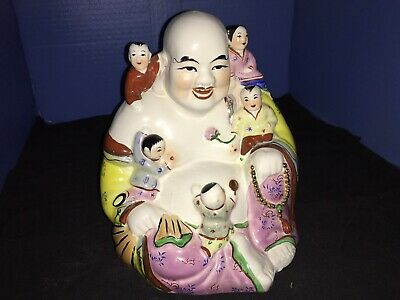 Laughing Buddha With Five Children