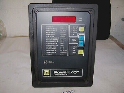Square D Power Logic Circuit Monitor 3020 Cm2350 With Iom-18