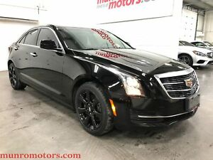 2016 Cadillac ATS AWD Apple Car Play Sunroof Black WHeels