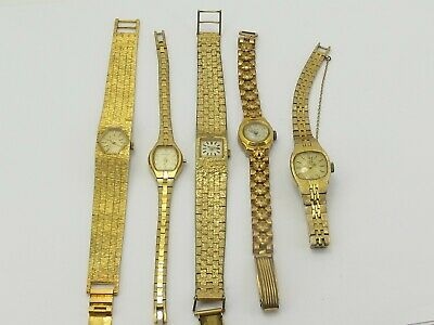 5 Vintage Ladies Watches Rotary Vella Everite Sekonda Caravelle