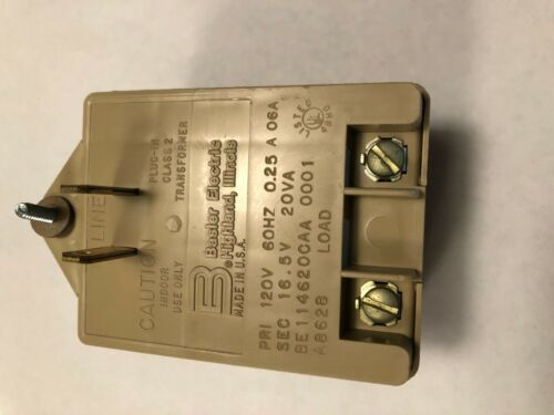 Transformer, 16.5V, 20VA, wall plug-in, NEW