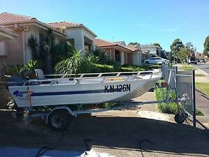 Quintrex 3.5 m/15hp Yamaha outboard/trailer/ideal for fishing Kellyville The Hills District Preview