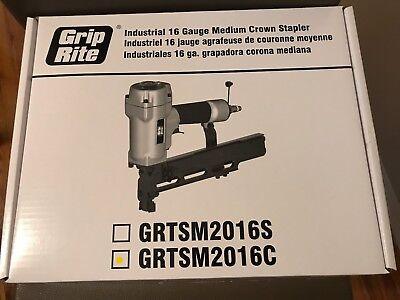 *NEW* Grip Rite Industrial 16 Gauge Medium Crown Nail Stapler Gun GRTSM2016C