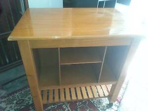 KITCHEN ISLAND BENCH WITH SHELVES AND IS ON WHEELS Murrumba Downs Pine Rivers Area Preview