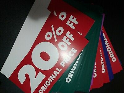 240 Pre Owned Pro. Cardstock Store Display Sign - Assorted Off Original Price