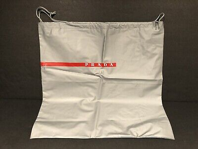 "PRADA Silver Dust Bag Shoe Bag Handbag Protective Cover Drawstring 15.5""x16"""