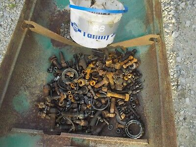 Oliver 88 Tractor Box Of Bolts Nuts Washers Pieces Parts Bearing