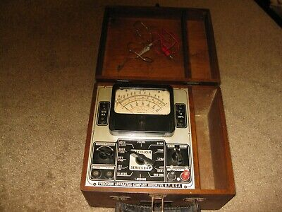 Vintage 1940s Precision Apparatus Series 844 With Wooden Case