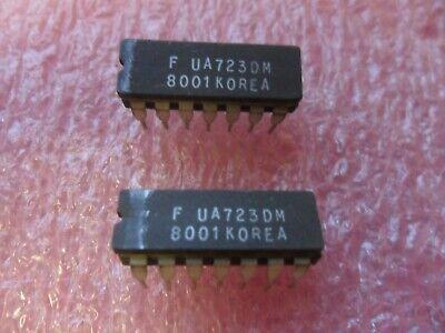 Ua723dm Ic Voltage Regulator Adj 2 To 137v Bipolar 14-pin Dip Lot Of 1
