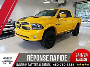 2016 Ram 1500 Sport, STINGER YELLOW EDITION, CREW, LIFT KIT, 4X4