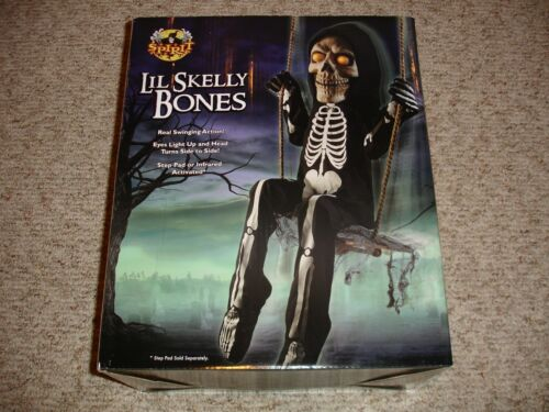 Spirit Halloween Swinging LIL SKELLY BONES Motion Sound Step Pad Activated (NEW)