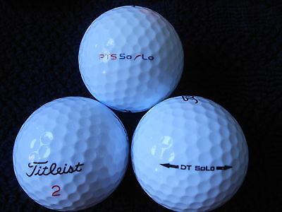 """20 TITLEIST - """"DT SOLO""""  - Golf Balls - """"A"""" Grade."""