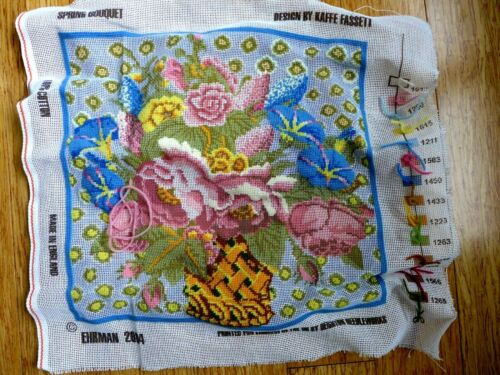 Kaffe Fassett 2004 Ehrman Needlepoint Spring Bouquet Deighton Canvas & Threads