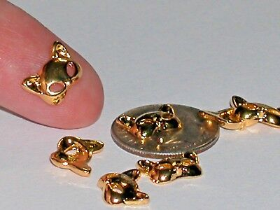 2pc Miniature Little Kitty Cat Ears Mask floating charm animal metal 8x10mm *NEW