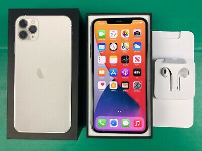 Apple iPhone 11 Pro Max 512GB Silver Verizon AT&T T-Mobile GSM Factory Unlocked
