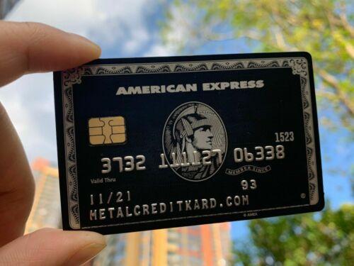 Collect Amex Black Card Customizable American Express Centurion Metal Black Card