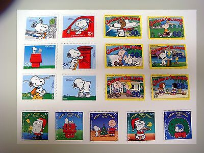 SNOOPY STAMPS LOT PEANUTS CHARLIE BROWN CHARLES SCHULZ COLLECTION OF 3 SETS