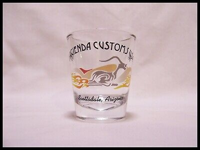 Custom Shot Glass (Shot Glass Hacienda Customs Harley Davidson Scottsdale Arizona Biker New)