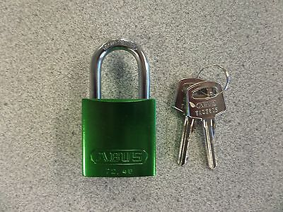 Abus 7240 Series Green 6 Pin Aluminum Body Padlock