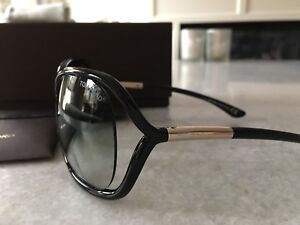 Tom Ford black Rachel sunglasses with case