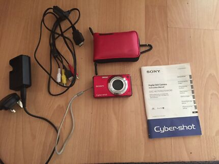 Sony Cybershot digital camera (red) 12.1 megapixels